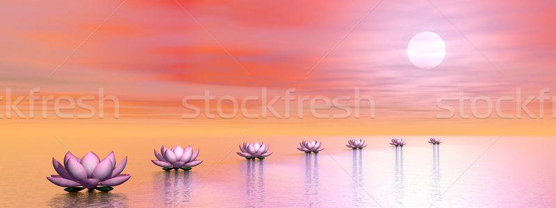Сток-фото: воды · шаги · солнце · 3d · визуализации · красивой