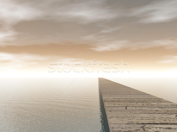 Pontoon - 3D render Stock photo © Elenarts