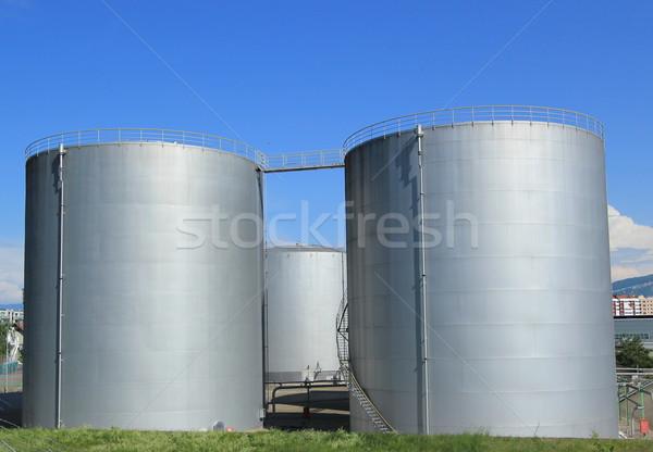 Oil tanks at Vernier, Genva, Switzerland Stock photo © Elenarts