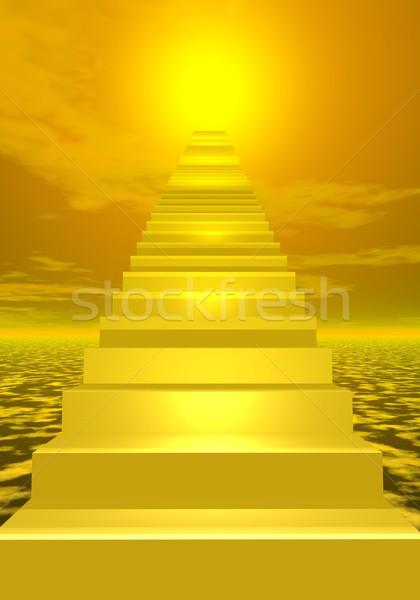 Stairs to shiny sun Stock photo © Elenarts