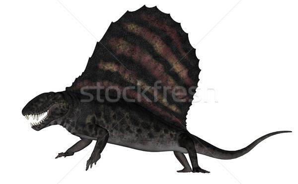 Dinosaurus 3d render geïsoleerd witte natuur achtergrond Stockfoto © Elenarts