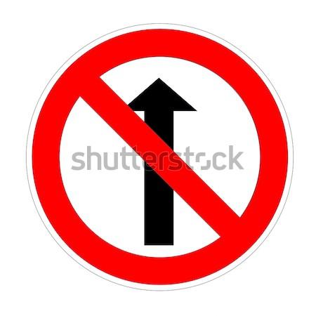 Do not go straight sign Stock photo © Elenarts