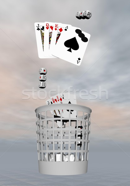 Stock photo: Decision to quit gambling - 3D render