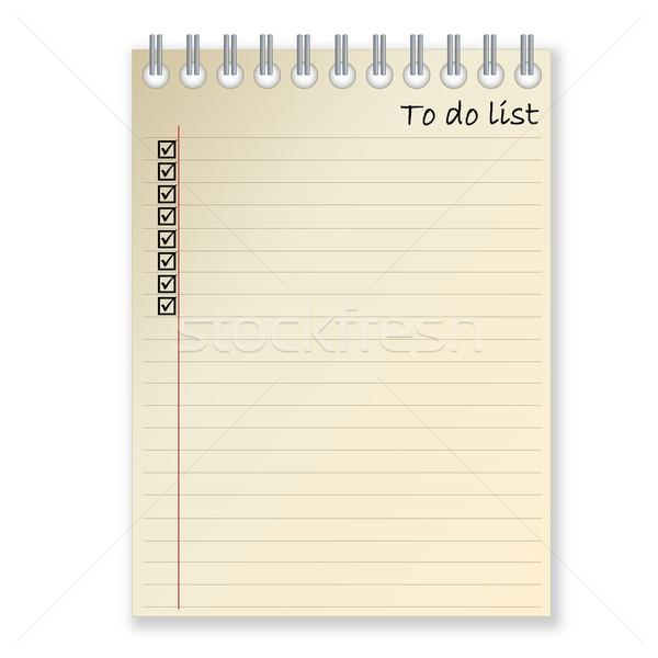 To-do list Stock photo © Elenarts