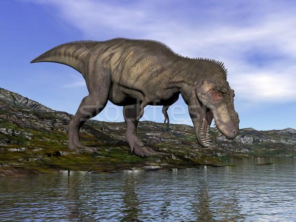 Tyrannosaurus rex dinosaur - 3D render Stock photo © Elenarts