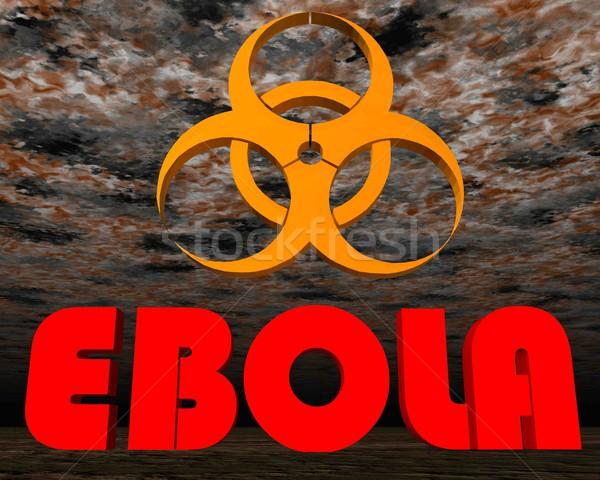 Ebola sign warning - 3D render Stock photo © Elenarts