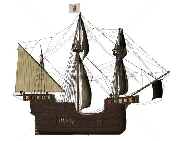 San Buenaventura ship - 3D render Stock photo © Elenarts