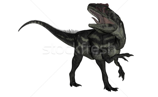 Allosaurus dinosaur roaring - 3D render Stock photo © Elenarts