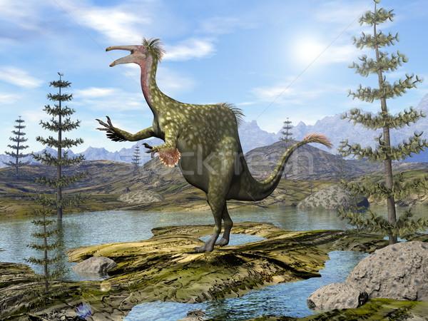 Deinocheirus dinosaur - 3D render Stock photo © Elenarts