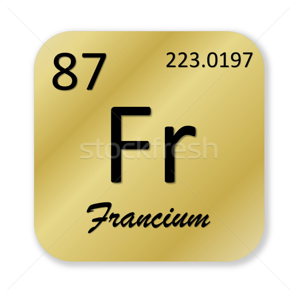 Francium element Stock photo © Elenarts