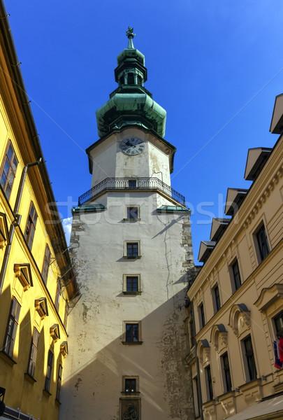 Kule eski şehir Bratislava Slovakya Avrupa Stok fotoğraf © Elenarts