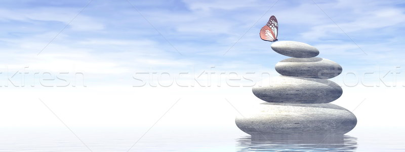 Balance - 3D render Stock photo © Elenarts