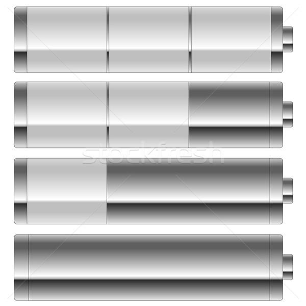 Battery level set Stock photo © Elenarts