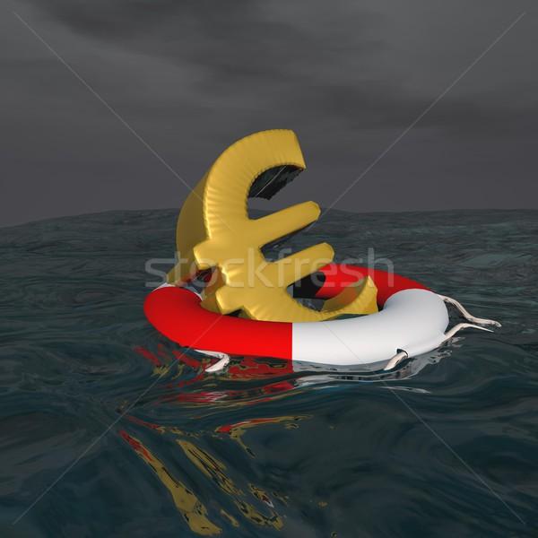 Saved euro - 3D render Stock photo © Elenarts