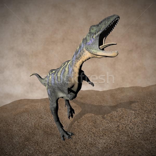 Aucasaurus dinosaur roaring - 3D render Stock photo © Elenarts