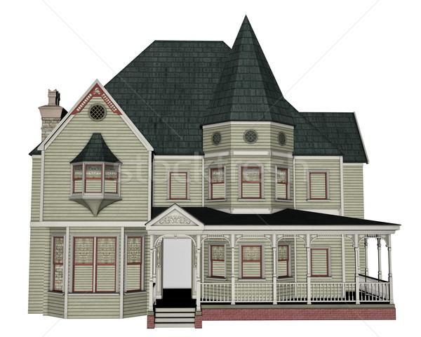 Victorian house - 3D render Stock photo © Elenarts