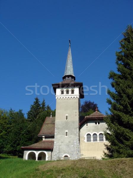 Facade of a small church Stock photo © Elenarts