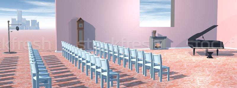 Piano concert room Stock photo © Elenarts