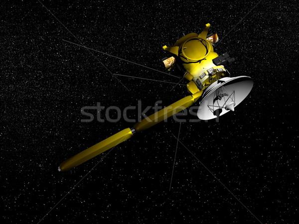 Cassini spacecraft - 3D render Stock photo © Elenarts