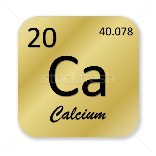 Calcium élément noir or carré forme Photo stock © Elenarts