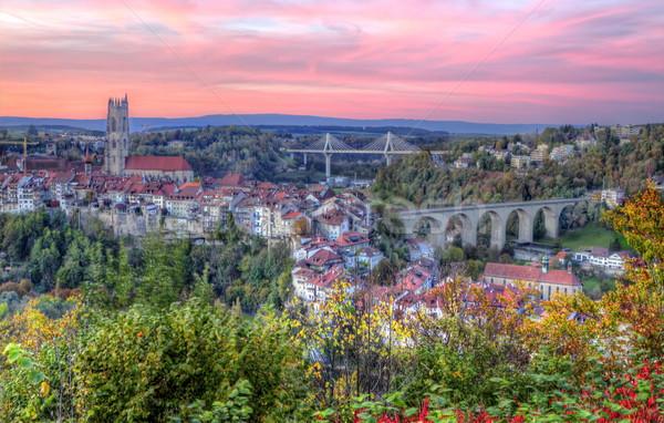 Ver catedral ponte Suíça hdr panorâmico Foto stock © Elenarts