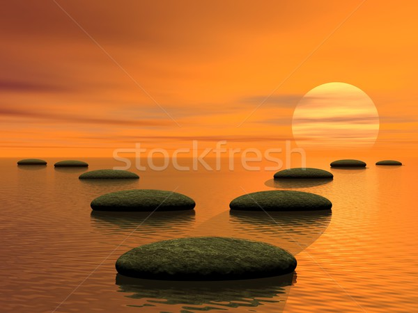 Which way to choose - 3D render Stock photo © Elenarts