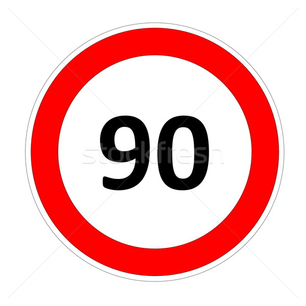 90 speed limit sign Stock photo © Elenarts