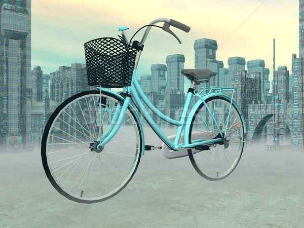 City bike - 3D render Stock photo © Elenarts