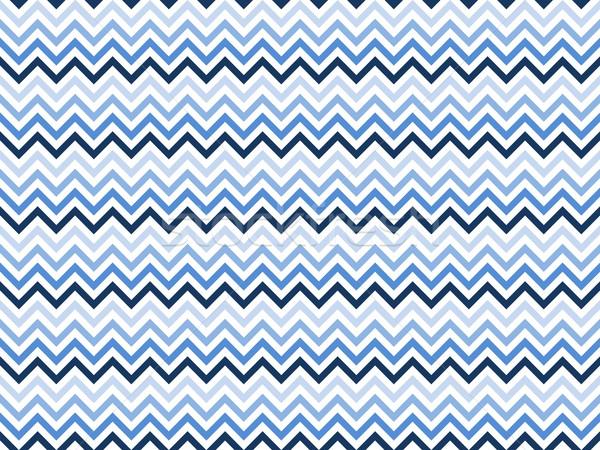 Zigzag patroon naadloos verschillend Blauw kleuren Stockfoto © Elenarts