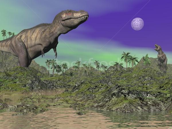 Tyrannosaurus - 3D render Stock photo © Elenarts
