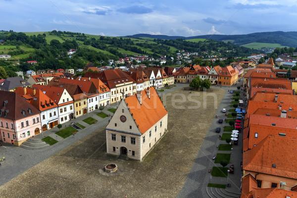 Old town square in Bardejov, Slovakia Stock photo © Elenarts