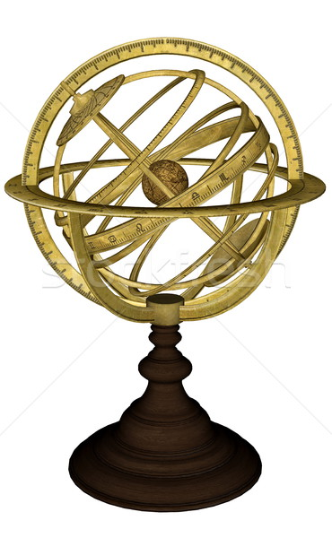Antique celestial sphere - 3D render Stock photo © Elenarts