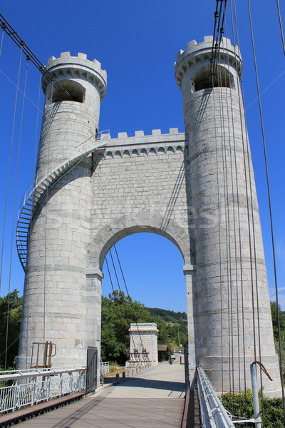 Towers of the bridge of the Caille, France Stock photo © Elenarts