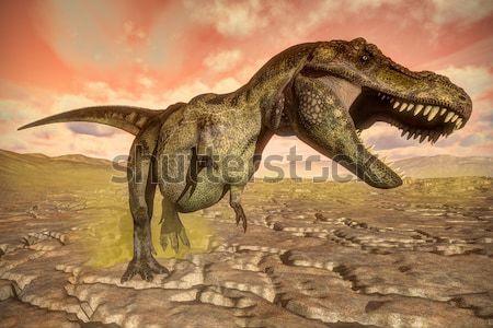 Aucasaurus dinosaurs running - 3D render Stock photo © Elenarts