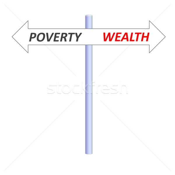 нищеты богатство два Стрелки ведущий Сток-фото © Elenarts