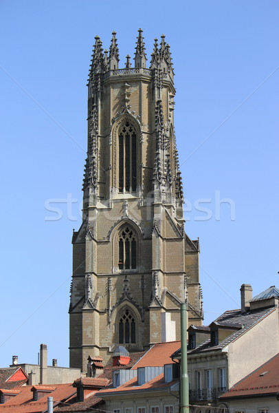 Saint-Nicholas cathedral, Fribourg, Switzerland Stock photo © Elenarts