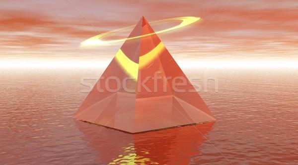 Santo piramide rosso halo mar rosso faccia Foto d'archivio © Elenarts
