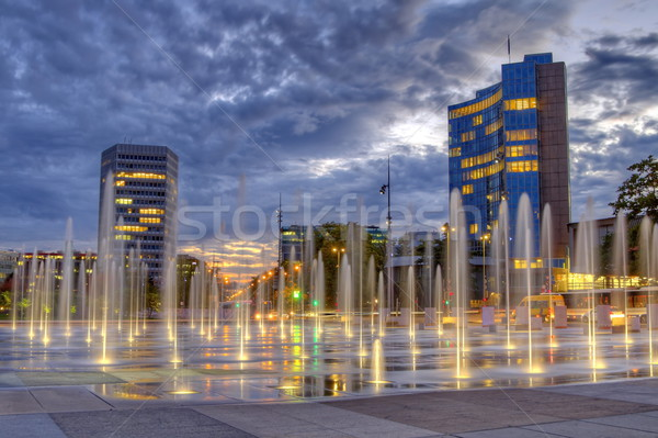 Plaats Zwitserland hdr internationale gebouwen Stockfoto © Elenarts
