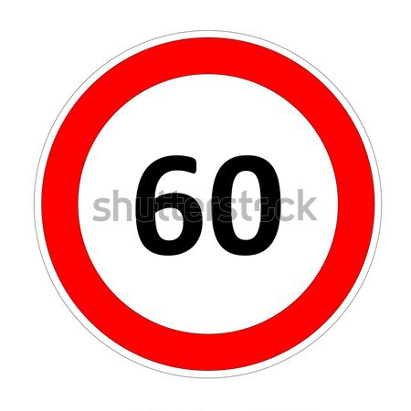 60 speed limit sign Stock photo © Elenarts