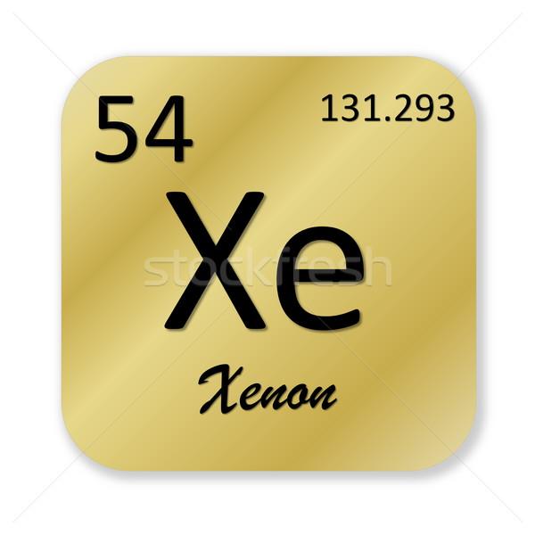Xênon elemento preto dourado praça forma Foto stock © Elenarts