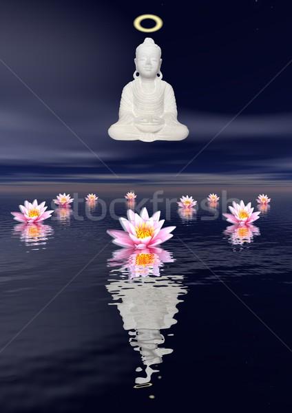 Meditation by night Stock photo © Elenarts