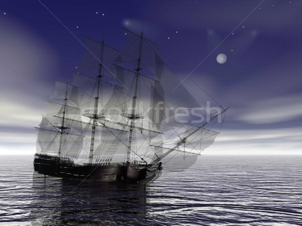 Old merchant ship - 3D Render Stock photo © Elenarts