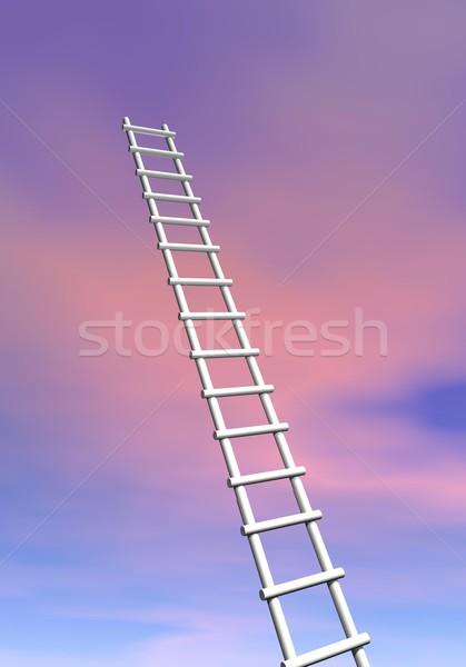 Ladder to success - 3D render Stock photo © Elenarts