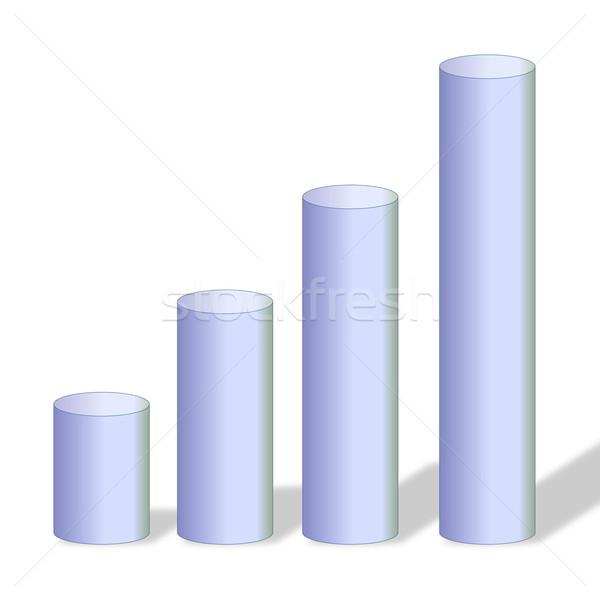 Gris gráfico cuatro pequeño grande blanco Foto stock © Elenarts