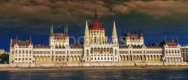 Húngaro parlamento edifício Budapeste Hungria colorido Foto stock © Elenarts