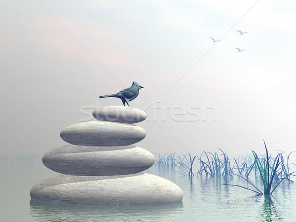 Bird peace - 3D render Stock photo © Elenarts