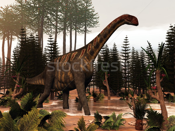Jobaria dinosaur - 3D render Stock photo © Elenarts