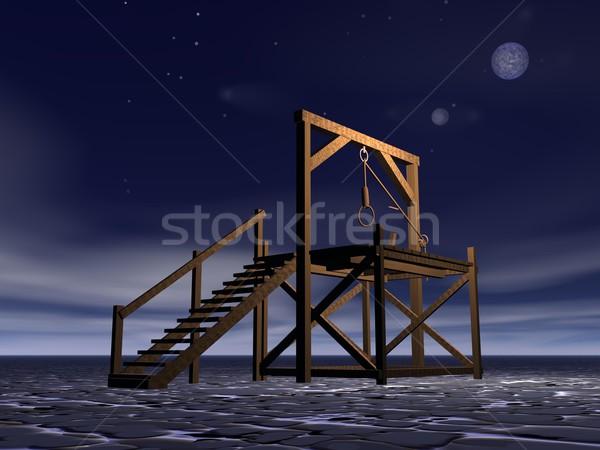 Medieval gallows Stock photo © Elenarts
