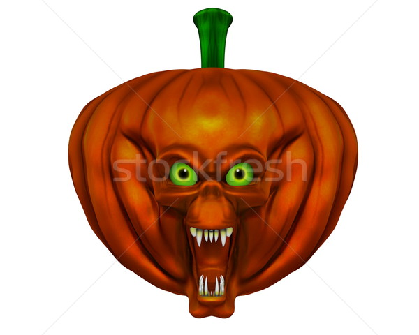 Halloween pumpkin - 3D render Stock photo © Elenarts