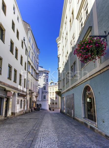 Street in old city, Linz, Austria Stock photo © Elenarts